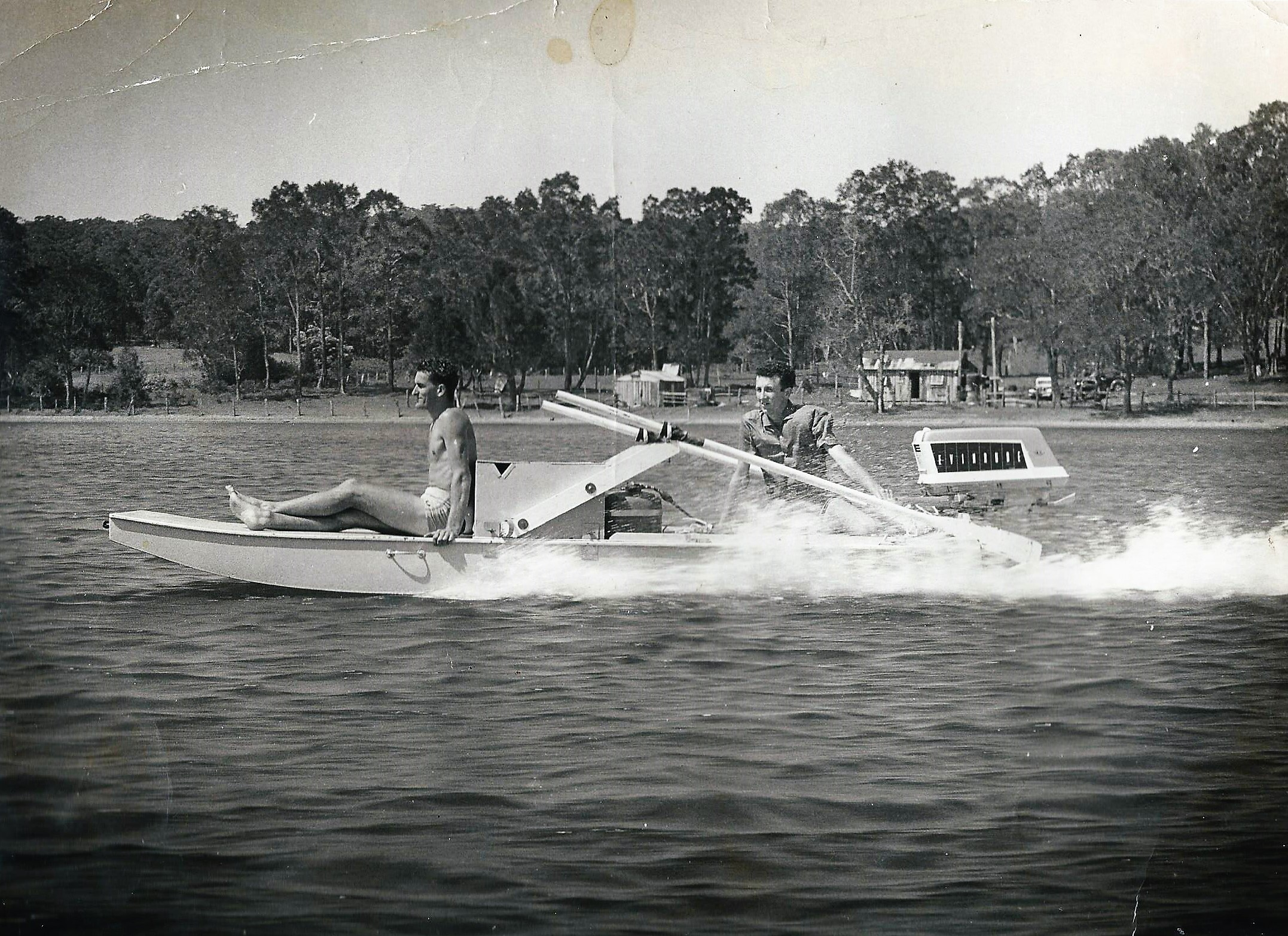 Rowfloat with Outboard